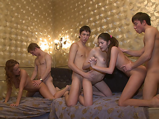 Winter break sex party in a dormitory